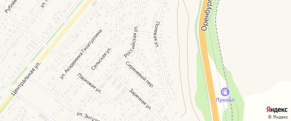 Сосновый переулок на карте села Зубово с номерами домов