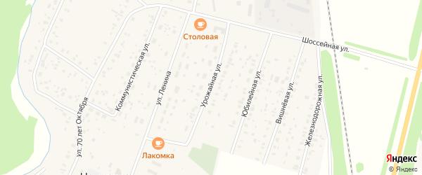 Урожайная улица на карте села Наумовки с номерами домов