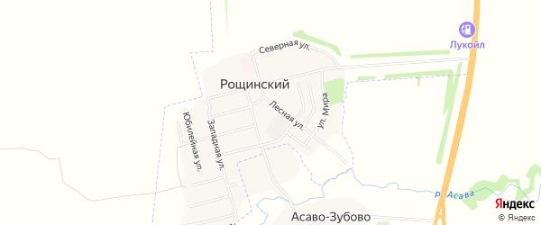 Карта села Рощинского в Башкортостане с улицами и номерами домов