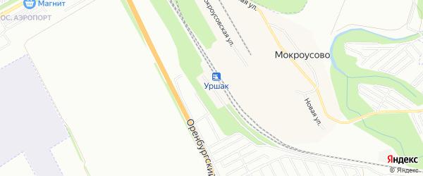 Карта поселка Станции Уршака города Уфы в Башкортостане с улицами и номерами домов