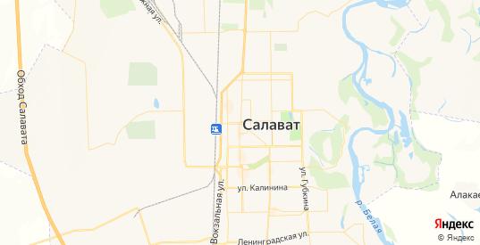 Карта Салавата с улицами и домами подробная. Показать со спутника номера домов онлайн