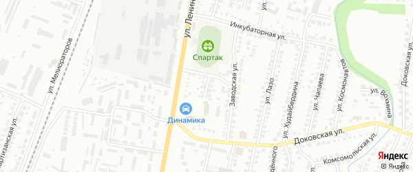 Спортивная улица на карте Мелеуза с номерами домов