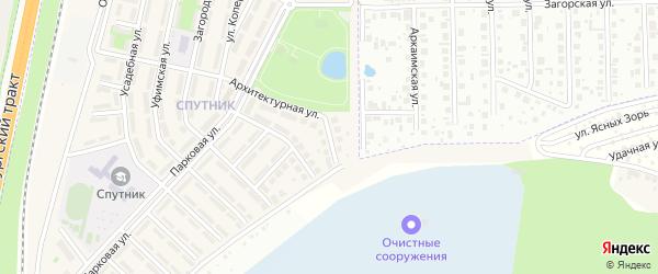 Восточная улица на карте села Чесноковки Башкортостана с номерами домов