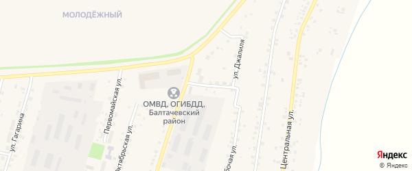 Улица Менделеева на карте села Старобалтачево с номерами домов