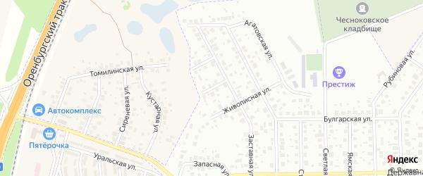 Окольная улица на карте Уфы с номерами домов