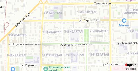 Западная улица в Салавате с номерами домов на карте. Спутник и схема онлайн