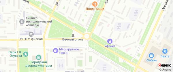 Улица Соляная пристань на карте Стерлитамака с номерами домов