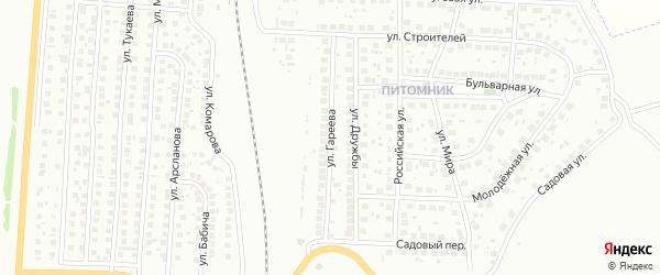 Улица Гареева на карте Мелеуза с номерами домов