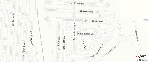 Российская улица на карте Мелеуза с номерами домов