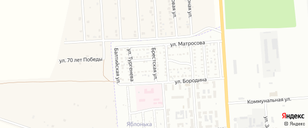 Брестская улица на карте Стерлитамака с номерами домов