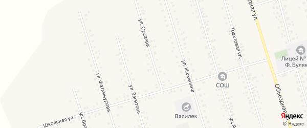 Улица Орсаева на карте села Мишкино с номерами домов