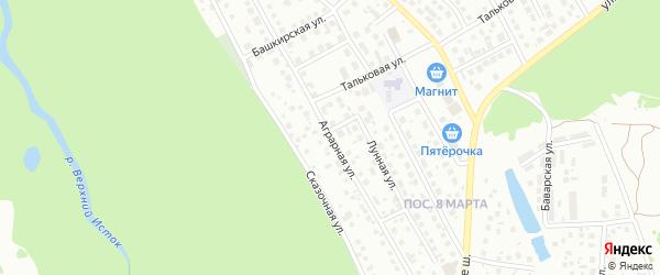 Аграрная улица на карте поселка Некрасово с номерами домов