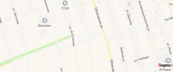 Трактовая улица на карте села Мишкино с номерами домов