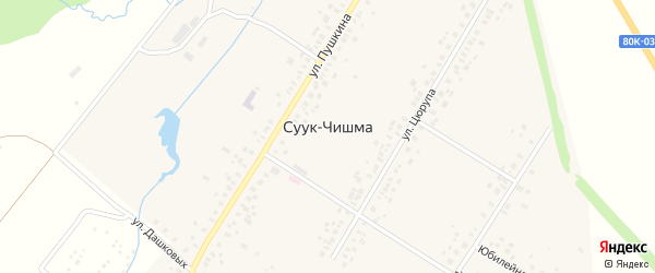 Я.Ухсая улица на карте села Суука-Чишма с номерами домов