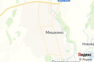 Карта с. Мишкино Республика Башкортостан