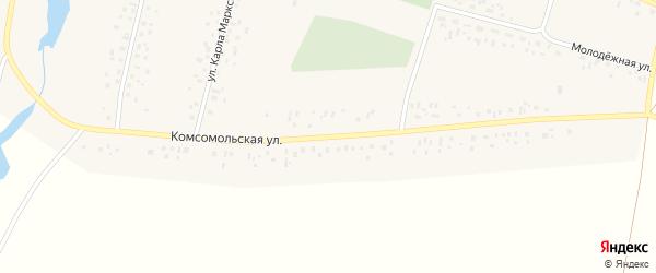 Комсомольская улица на карте села Исмагилово Башкортостана с номерами домов