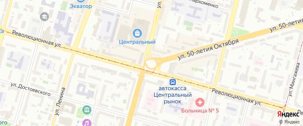 Керченский переулок на карте Уфы с номерами домов
