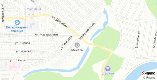 Набережная улица в Салавате с номерами домов на карте. Спутник и схема онлайн