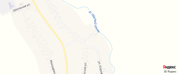 Набережная улица на карте деревни Ирсаево с номерами домов