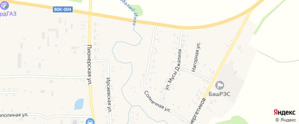 Солнечная улица на карте села Мишкино с номерами домов