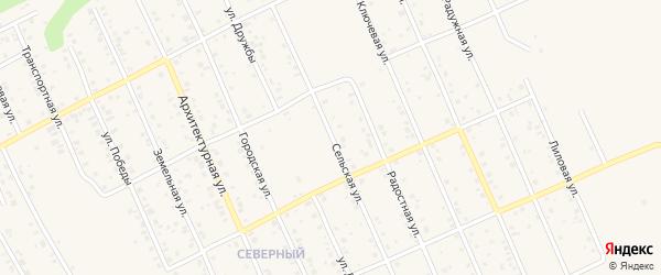 Сельская улица на карте Благовещенска с номерами домов