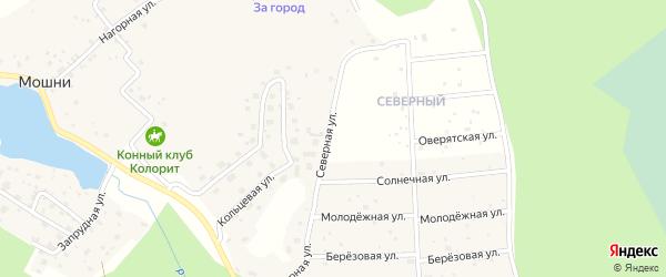 Северная улица на карте деревни Мошни с номерами домов