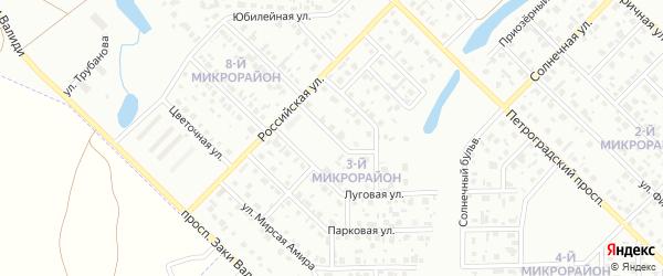 Геодезическая улица на карте Салавата с номерами домов