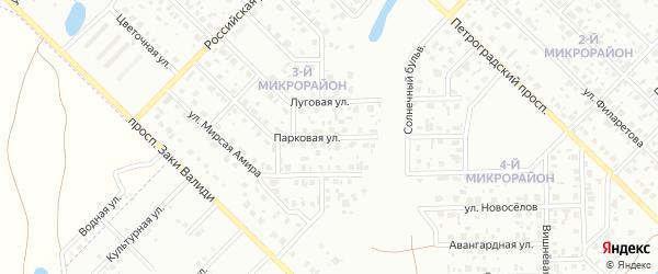 Парковая улица на карте Салавата с номерами домов