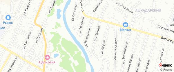 Улица Челюскина на карте Стерлитамака с номерами домов