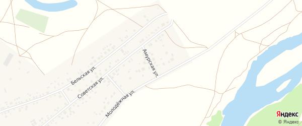 Амурская улица на карте деревни Сабашево Башкортостана с номерами домов