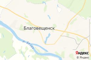 Карта г. Благовещенск Республика Башкортостан