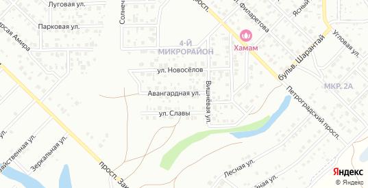 Авангардная улица в Салавате с номерами домов на карте. Спутник и схема онлайн