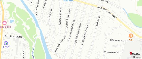 Улица Степана Разина на карте Стерлитамака с номерами домов