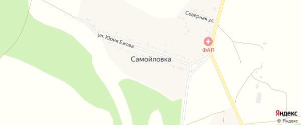 Миньковская улица на карте деревни Самойловки Башкортостана с номерами домов