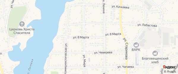 Тупик 8 Марта на карте Благовещенска с номерами домов