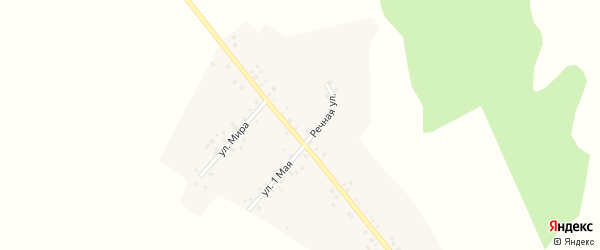 Улица Мира на карте деревни Нижнеиванаево с номерами домов