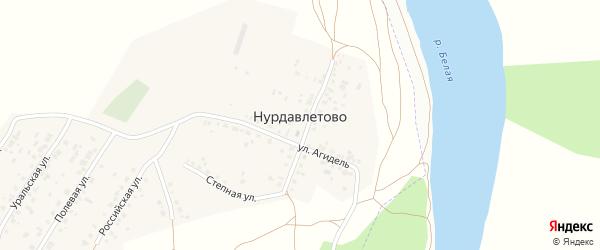 Полевая улица на карте деревни Нурдавлетово с номерами домов