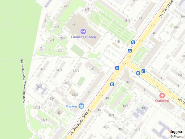 Улица Рихарда Зорге 37 в Уфе  2ГИС