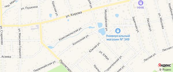 Колхозная улица на карте Благовещенска с номерами домов