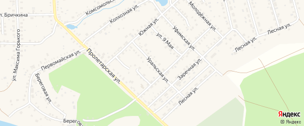 Уральская улица на карте Благовещенска с номерами домов