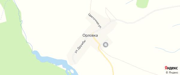 Карта села Орловки в Башкортостане с улицами и номерами домов
