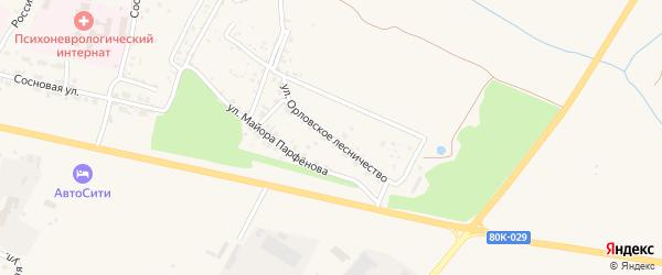 Улица Орловское лесничество на карте Благовещенска с номерами домов