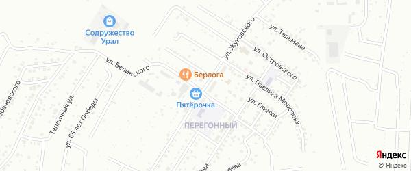 Улица Жуковского на карте Ишимбая с номерами домов