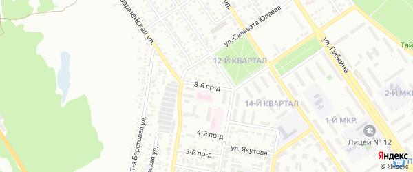 Восьмой проезд на карте Ишимбая с номерами домов
