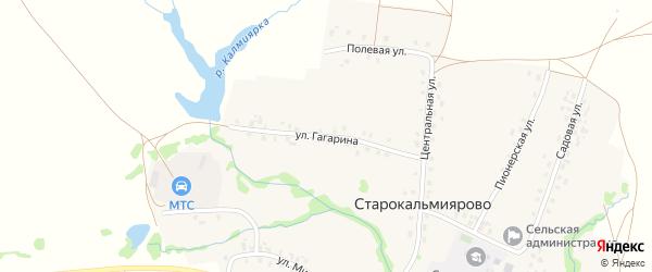 Улица Гагарина на карте села Старокальмиярово с номерами домов