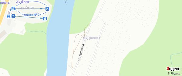 Улица Верхнее Дудкино на карте Уфы с номерами домов