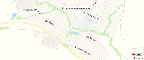 Улица Мира на карте села Старокальмиярово с номерами домов