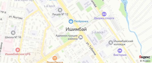 Кедровая улица на карте Ишимбая с номерами домов