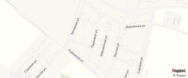 Парковая улица на карте деревни Старые Киешки с номерами домов
