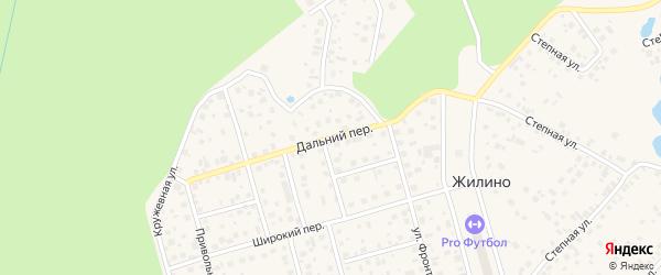 Дальний переулок на карте деревни Жилино с номерами домов